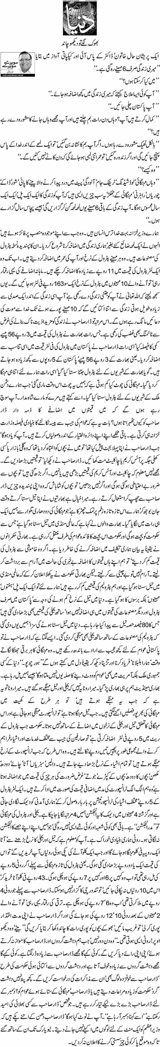 Bhook Lage To Daikho Chand | Nazir Naji | Daily Urdu Columns